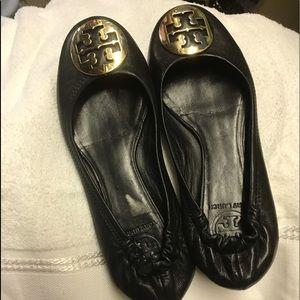 Tori Burch black slippers